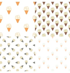 Ice cream seamless pattern in modern vintage vector image