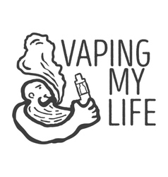 logo of the person with an electronic cigarette vector image