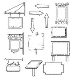 worn signs vector image