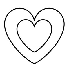 cute heart in love decoration vector image vector image