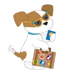 Cute Puppy Travel vector image vector image