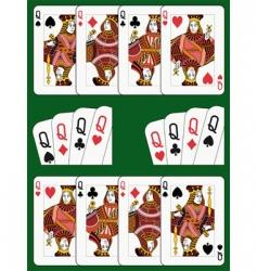 four queens vector image vector image