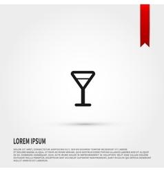 Martini glass icon vector image