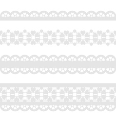 Set of seamless lace ribbon vector image
