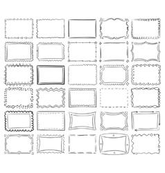 Simple doodle sketch square frames vector