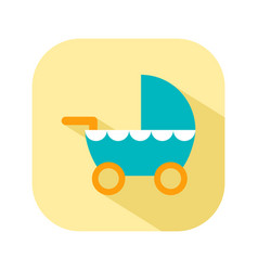 stroller for walks flat color icon things for the vector image vector image