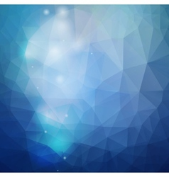 Abstract blue background triangle design vector image vector image