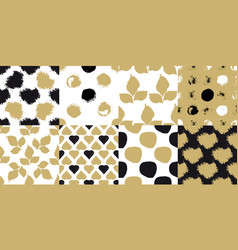 decorative seamless patterns vector image vector image