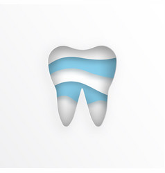 flat tooth vector image vector image
