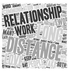 How to Keep A Long Distance Love Alive text vector image vector image