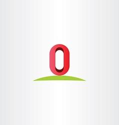 letter o zero 0 number logo icon symbol element vector image vector image