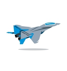 Russian Fighter plane Cartoon vector image