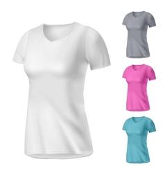 sport womens t-shirt vector image