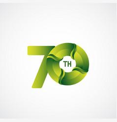 70 th anniversary celebrations green gradient vector
