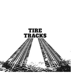 Abstract dirty tire track marks vector