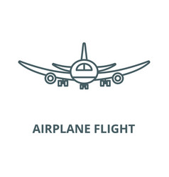 airplane flight line icon outline concept vector image