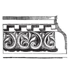 Anthemion frieze venice byzantium vintage vector