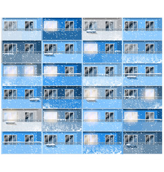 apartments in winter night vector image