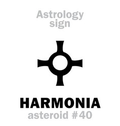 astrology asteroid harmonia vector image