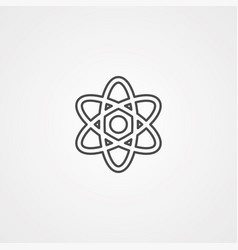 atom icon sign symbol vector image