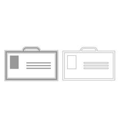 Badge grey set icon vector