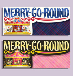 banners for merry-go-round carousel vector image