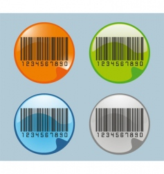 barcodes glossy icon vector image