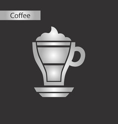 black and white style icon coffee mocha vector image