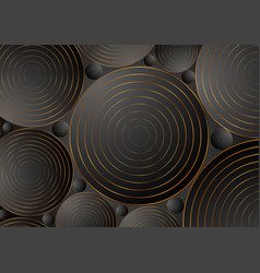 black bronze circles abstract corporate background vector image