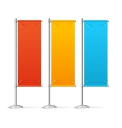 Blank Banner Flags Colorful Set vector