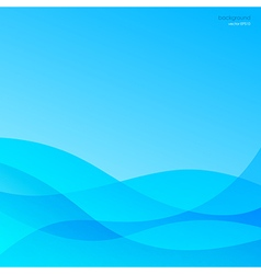 Blue abstract background smooth waves vector