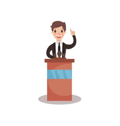 businessman or politician character standing at vector image
