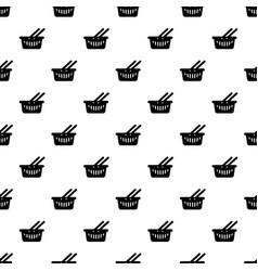 cart shop pattern seamless vector image