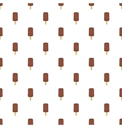 Chocolate popsicle on a stick pattern vector image