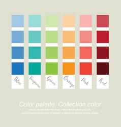 Color palette collection color eps10 vector