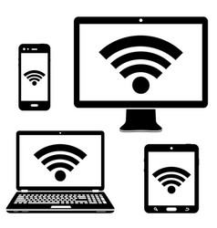 computer display laptop tablet and smartphone vector image