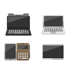 Computer laptop network and tablet technology vector