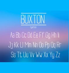 Condensed sans serif font vector