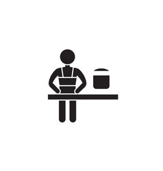 cooking class black concept icon cooking vector image