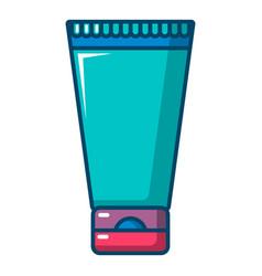 creme tube icon cartoon style vector image