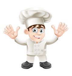Cute chef mascot character vector