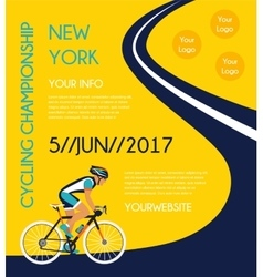 Cycling competition or race poster vector