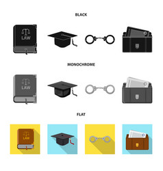 Design law and lawyer logo set law vector