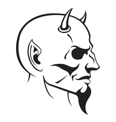 devils head profile vector image