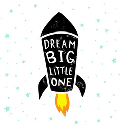 Dream big stars vector