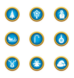 eve party icons set flat style vector image