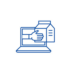 express delivery service line icon concept vector image