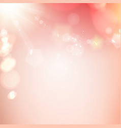 flash of pink light sparkle vector image