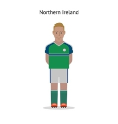 Football kit Northern Ireland vector image