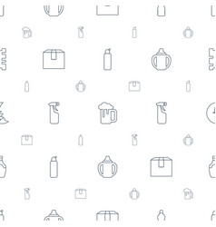 Full icons pattern seamless white background vector